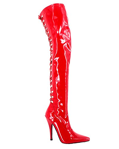 Wonderheel stiletto lace up Lack over-knee stiefel thigh high boots
