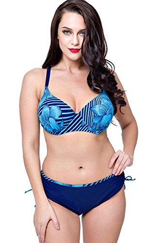 9990412ce2 Sexy Bikinis Plus Size Swimwear Patchwork Swimsuits Summer Bathing Suits  Large Swim Wear Bikini Set(A887-BL-52)