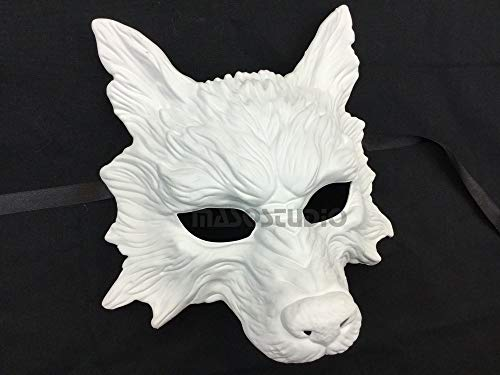 White Wolf Mask Animal Masquerade Halloween Costume Cosplay Party mask -