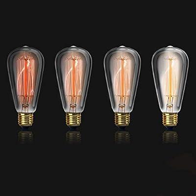 Bombilla LED Old Edison Sindimnable luz expuesta luz incandescente ...
