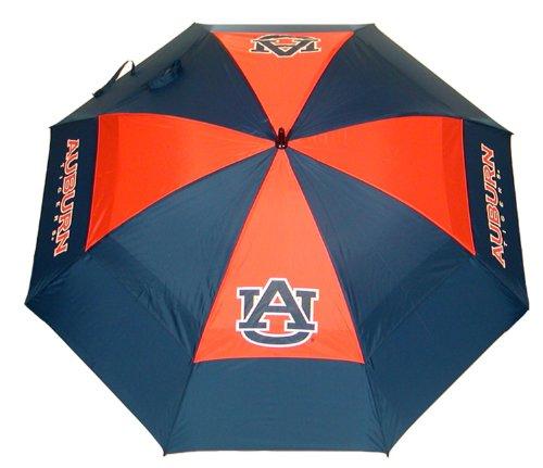 "Team Golf NCAA Auburn University Tigers 62"" Golf Umbrella with Protective Sheath, Double Canopy Wind Protection Design, Auto Open Button"