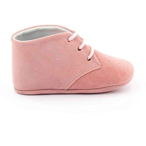 Boni Classic Shoes - Zapatillas de estar por casa de cuero para niño Daim Rose
