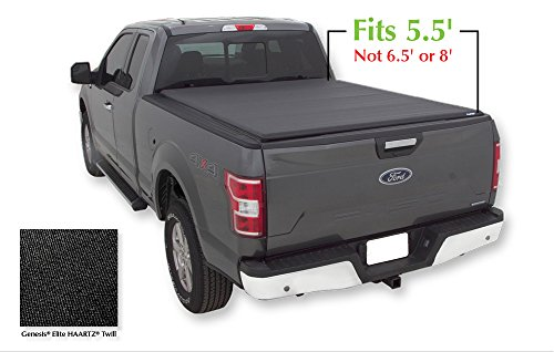 Lund 96872 Genesis Elite Roll Up Truck Bed Tonneau Cover for 2004-2018 Ford F-150; 2006-2014 Lincoln Mark LT (w/o Chrome Tie Downs) | Fits 5.5' Bed - Lund Soft Roll