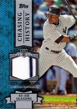 2013 Topps Chasing History Relics #CHR-CG Curtis Granderson Game Worn Jersey Baseball Card