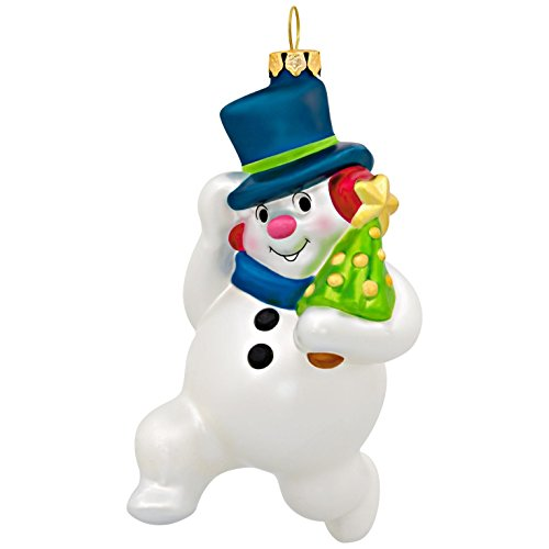 Tree Blown Glass Ornament (Hallmark Keepsake 2017 Jolly Snowman Blown Glass Christmas Ornament)