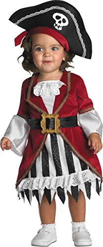 UHC Little Girl's Pirate Princess Infant Toddler Fancy Dress Halloween Costume, 12-18M (Pirate Outfits For Toddlers)