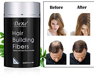 Dexe Hair Building Fibers,Miyshow Hair Thickening Fibers with Natural Keratin for Thinning Hair or Bald Spots Hair Loss Concealer Powder for Men and Women (Dark Brown)