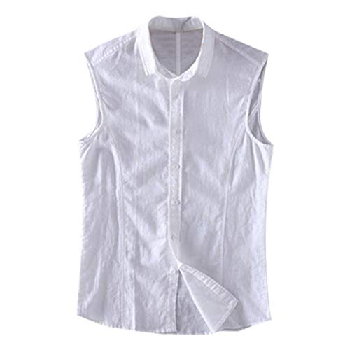 - iHPH7 Vest Men Sleeveless Athletic Dry Compression Muscle Tank Top Fashionable Vest Comfortable Blouse Top XXL White