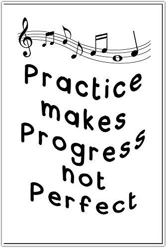 Music Class Practice Makes Progress Classroom School Education Poster