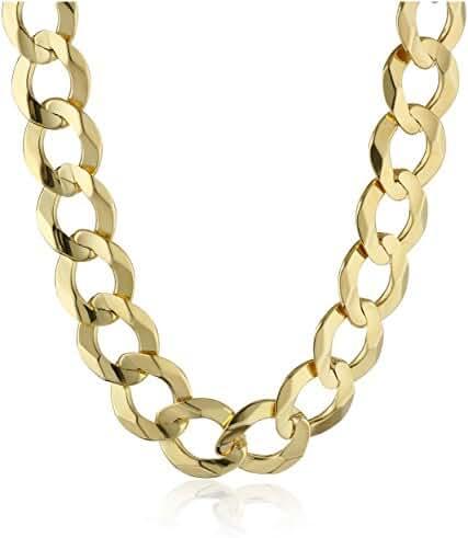 Men's 14k Gold 9mm Cuban Chain Necklace