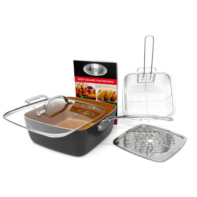 gotham-steel-titanium-ceramic-95-deep-square-frying-cooking-pan-with-lid-frying-basketsteamer-tray