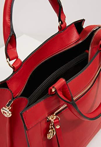 Asa Grande Elegante de con y de con Cierre Rojo Anna Asa Mujer de Bolso Cremallera con Desmontable Bolso Bolso Bolso Compartimento Field Mano xq7XnA0