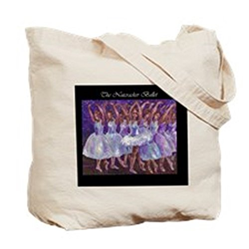Cafepress–Schiaccianoci Christmas Ballet–Borsa di tela naturale, tessuto in iuta