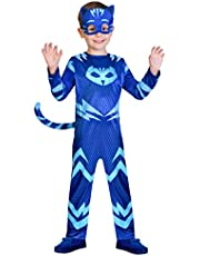 amscan- PJMASQUES Costume Pj Mask Cat Boy (3-4 Anni), Multicolore, 3, 7AM9902952