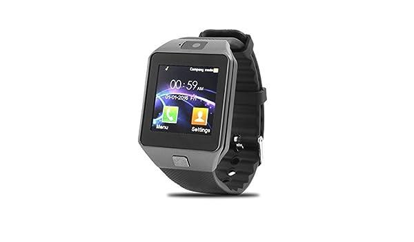 Amazon.com: eDealMax Lost-Anti DZ09 la cámara del Monitor del sueño tarjeta SIM MP3 jugador inteligente reloj de Plata gris Para iOS teléfono Android: Cell ...