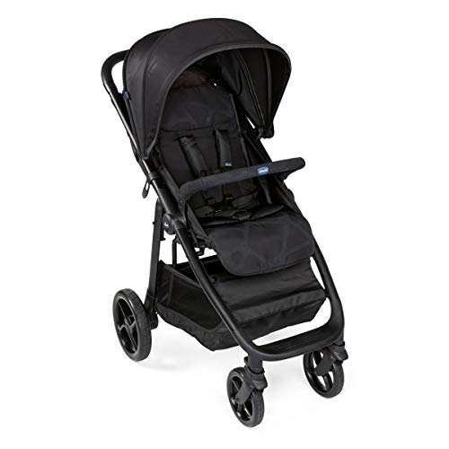 Chicco MultiRide - Silla de paseo todoterreno con ruedas grandes y suspension, hasta ninos 22 kg, color negro (Jet Black)