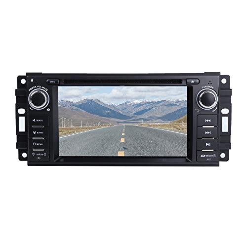 """(MCWAUTO Car Stereo GPS DVD Player for Dodge Ram Challenger Jeep Wrangler JK Head Unit Single Din 6.2"""" Touch Screen Indash Radio Receiver with Navigation)"""
