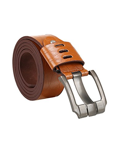 uxcell Men Argyle Embossed Metal Pin Buckle PU Leather Dress Belt One Size Chocolate (Argyle Embossed Belt)