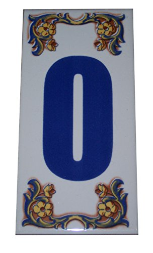 - Moroccan Decorative House Numbers Ceramic Tile Mexican Spanish Mediterranean #0