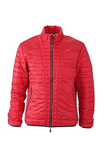 Moda silver Dettagli Con Giacca Lightweight red Alla Indian Men's Trapuntata Jacket w4IyWq76