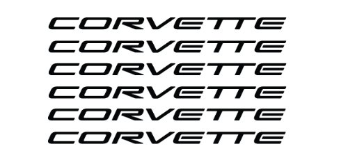 tomkoz 6 x Corvette Wheel Decals Stickers die Cut Vinyl (Ls4 Emblem)