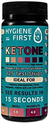 HYGIENE FIRST Ketone Urinalysis Test Strips,125 Count, Ideal to Help with Ketogenic and Low-Carb Diets and Intermittent Fasting. 6