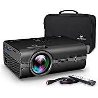 vankyo Leisure 410 Mini Projector with 2500 Lux, Portable Projector with Carrying Bag, LED Video Projector 1080P Support, Home Theater Projector Compatible with HDMI USB VGA AV SD Card