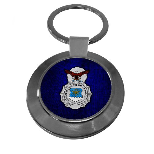 Premium Key Ring with U.S. Air Force Security Forces (AFSC), - Security Forces Badge