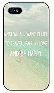 iPhone 5C Bible Verse - What we all want in life, to travel, to fall in love, to be happy. Beach - black plastic case / Verses, Inspirational and Motivational