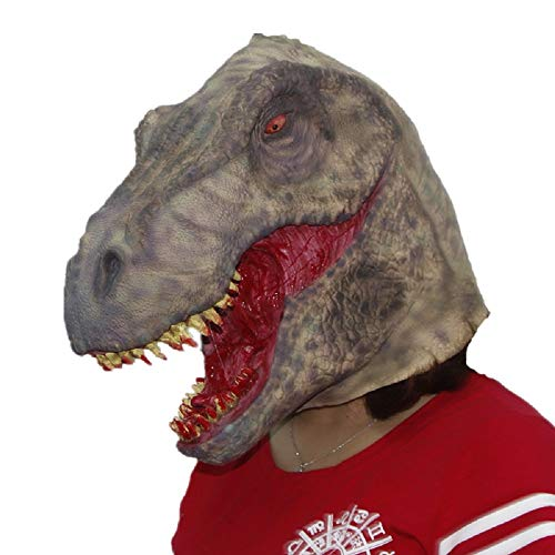 Scary Bloody Tyrannosaurus Dinosaur Mask Horror Halloween One Size Evil Bloody Teeth Dinosaur T-Rex Mask by Halloween Paradise (Image #4)