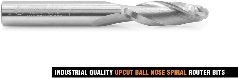 46476 Solid Carbide Down-Cut Ball Nose Spiral 1//4 Dia x 1 4 Shank RO Amana Tool