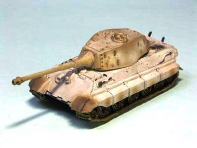World Tank Museum - 1/144 World Tank Museum Series 02-35 Tiger II type heavy tank Turret type winter camouflage single item