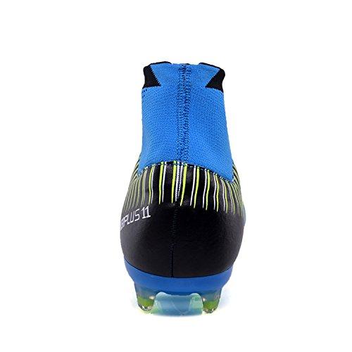 Chaussures Bottes Hautes Pics Lsgego Football Soccer Adolescents Extrieures Sport Baskets Professionnelles De D'entranement Adultes Bleu Hommes BnYxqwTFS