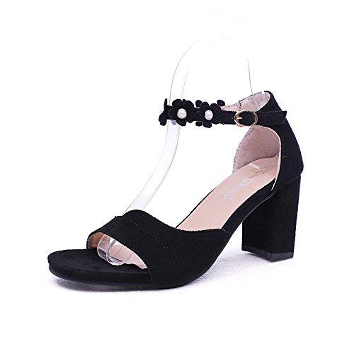 y con tacón mujer alto puntiagudas black sandalias Hebilla de yalanshop xnYIgFq