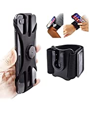 Running 360° Rotatable Armband Wristband Phone Holder for iPhone 12 11 X XR XS 8 7 6 6s Plus, Galaxy S20 S10 S9, Note 20/10/9/8, 360°Rotatable Phone Armband for Sports Workout Exercise Jogging