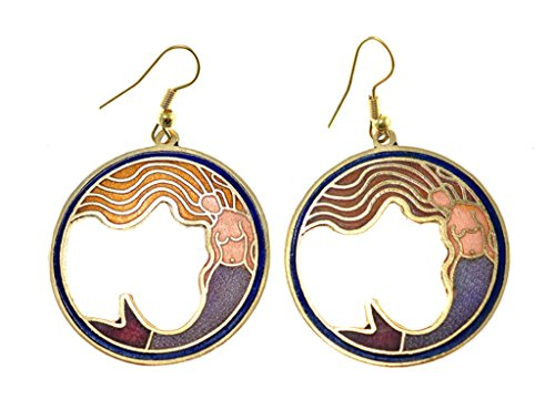 Shagwear Vintage Inspired Cloisonne Earrings