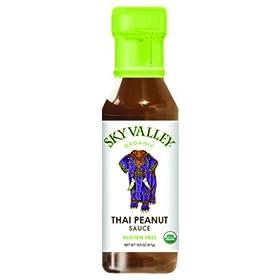 SKY VALLEY Organic Thai Peanut Sauce, 14.5 Ounce