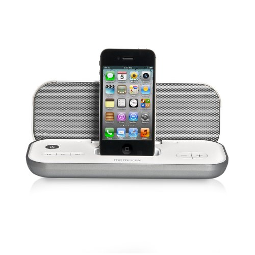 Memorex Travel Speaker with iPod and iPhone Dock, Silver