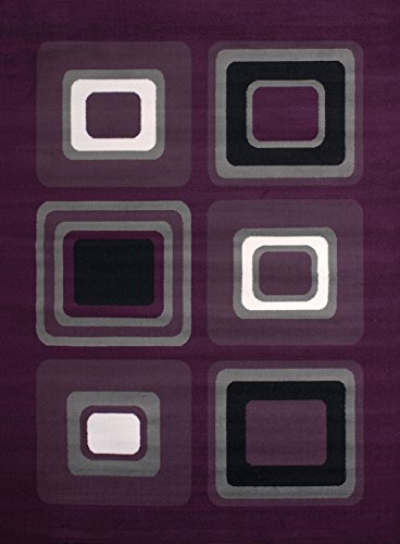 8' Lilac Area Rug - United Weavers of America Dallas Spaces Rug, 5 x 8', Lilac