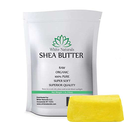 Sunscreen Shea Butter Natural (Yellow Shea Butter 16 oz By White Naturals - Unrefined, 100% Pure, Raw, Grade A, Use As Skin Moisturizer, Lip Balms, Stretch Marks, Acne, Recover Sun Damage, Kids Cream & More! (1 lb))
