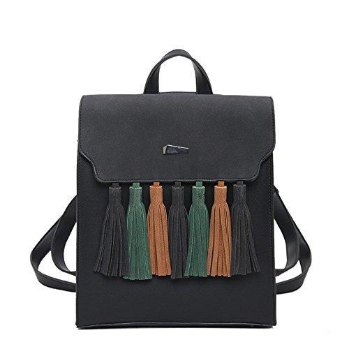 De Dos Femmes D'université à Des Bookbags Des Filles Pour Toile Black Toile Sac Multifonctionnel De wqY5Z5O