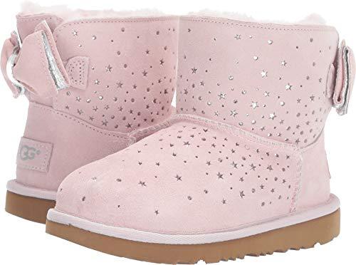 UGG Girls' K STARGIRL Classic Mini II Bow Fashion Boot, Baby Pink, 13 M US Little Kid