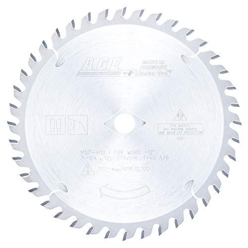 Disco Sierra AMANA Corte transversal 7 1/4 X 40T Atb 5/8 e