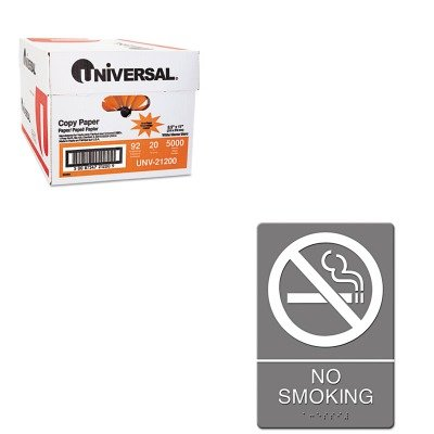 KITUNV21200USS4813 - Value Kit - ADA Sign, No Smoking (USS4813) and Universal Copy Paper (UNV21200)