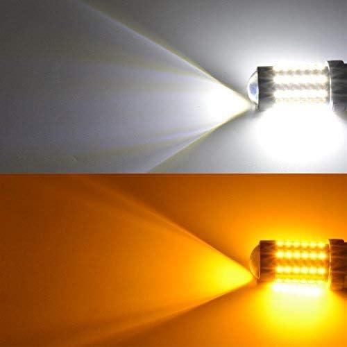 TUINCYN 3157 3157A Ampoule de signalisation CANBUS Switchback avec r/ésistances bicolores Commutateur bicolore pack de 2 Dos arri/ère Chipsets 120-EX Circuits 3155 3457 4157 3156 6500K DRL