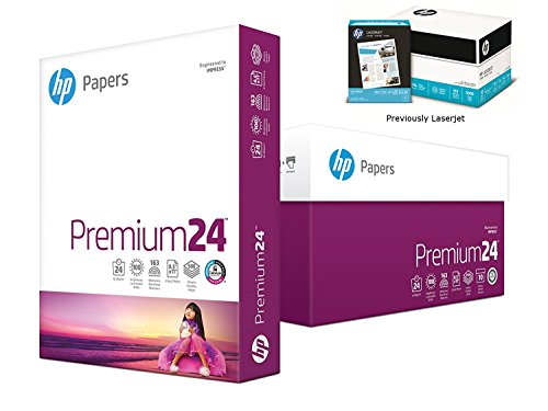 HP Printer Paper, Premium24, 8.5 x 11 Paper, Letter Size, 24lb Paper, 98 Bright, 5 Reams / 2,500 Sheets, Presentation Paper, Acid Free Paper (115300C) by HP Paper (Image #1)