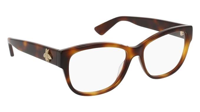 f2e9fe8d999 Amazon.com: Eyeglasses Gucci GG 0098 O- 002 AVANA /: Clothing