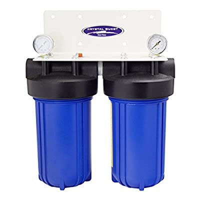 """CRYSTAL QUEST Whole House Double 10"""" x 5.0"""" Water Filter System"""