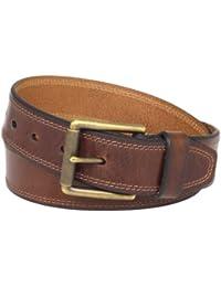 Men's Contrast-Stitched Belt