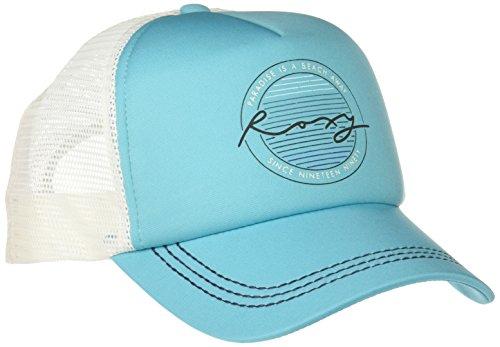 Roxy Junior's Truckin Trucker Hat, Scuba Blue, One Size (Roxy Cap For Girls)